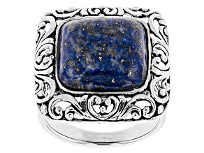Pre-Owned Blue Lapis Lazuli Sterling Silver Ring