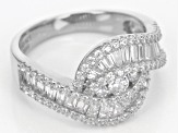 Pre-Owned white cubic zirconia rhodium over sterling silver ring 1.67ctw
