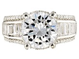 Pre-Owned White Cubic Zirconia Rhodium Over Sterling Silver Ring 8.30ctw