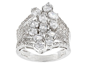 Pre-Owned White Zircon Sterling Silver Ring 2.56ctw