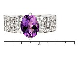 Pre-Owned Purple Amethyst Sterling Silver Ring 2.16ctw