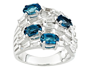 Pre-Owned London Blue Topaz Sterling Silver Ring 3.03ctw