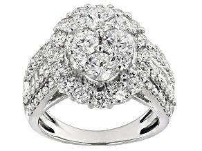 Pre-Owned Diamond 14k White Gold Ring 3.00ctw