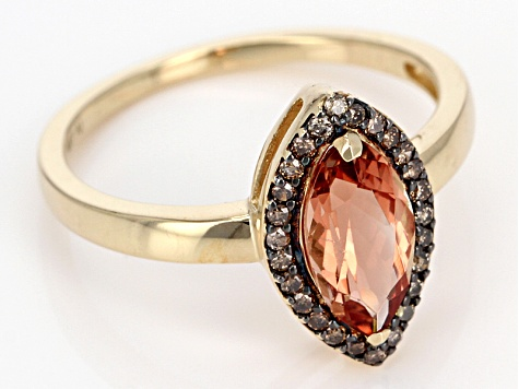Pre-Owned Organge Oregon Sunstone 10k Yellow Gold Ring 1.14ctw