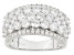 Pre-Owned White Cubic Zirconia Rhodium Over Silver Ring 6.21ctw