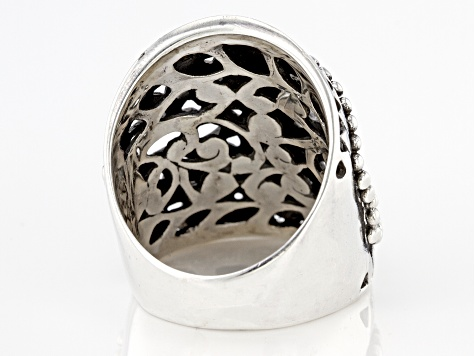 Pre-Owned Sterling Silver Filigree Statement Ring