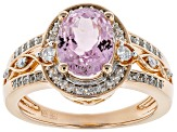 Pre-Owned Pink Kunzite 18k Rose Gold Over Sterling Silver Ring 2.61ctw
