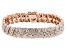 Pre-Owned White Diamond 14k Rose Gold Over Brass Bracelet 1.00ctw