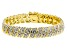 Pre-Owned White Diamond 14k Yellow Gold Over Brass Bracelet 1.00ctw