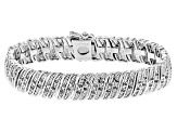 Pre-Owned White Diamond Rhodium Over Brass Bracelet 1.00ctw