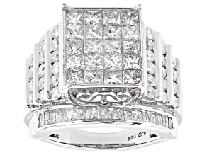 Pre-Owned White Diamond 10k White Gold Ring 3.95ctw