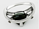 Pre-Owned Green Moldavite Sterling Silver Ring 2.42ctw.