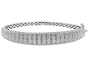 Pre-Owned White Diamond Rhodium Over Sterling Silver Bracelet .50ctw