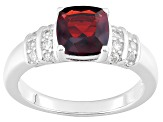 Pre-Owned Red Garnet Sterling Silver Ring 2.08ctw
