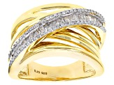 Pre-Owned White Diamond 14k Yellow Gold Over Sterling Silver Ring .40ctw