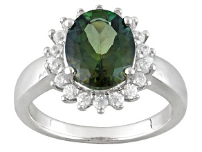 Pre-Owned Green Labradorite Sterling Silver Ring 2.47ctw