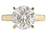 Pre-Owned Moissanite 14k Yellow Gold Over Silver Ring 4.75ct DEW