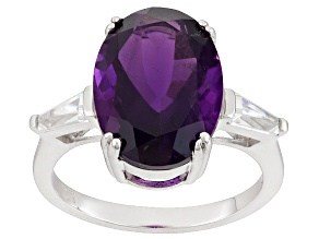 Pre-Owned Purple Amethyst Sterling Silver Ring 5.13ctw