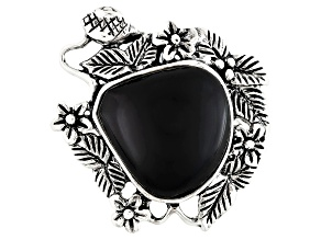 Pre-Owned Black Onyx Sterling Silver Ring.