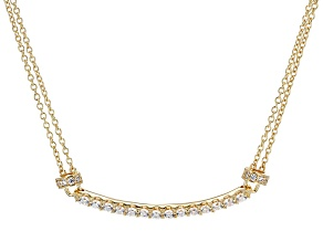 Pre-Owned Cubic Zirconia 18k Yellow Gold Over Stelring Silver Necklace 1.87ctw