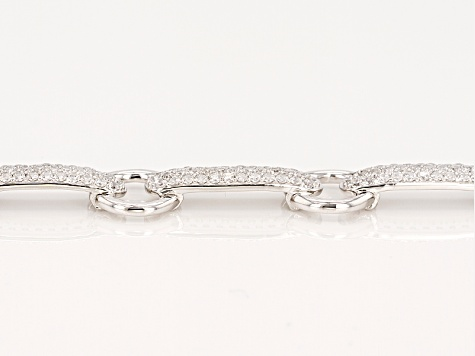 Pre-Owned White Cubic Zirconia Rhodium Over Sterling Silver Bracelet 6.19ctw