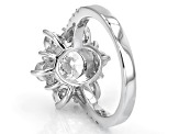 Pre-Owned White Cubic Zirconia Rhodium Over Sterling Silver Ring 6.00ctw