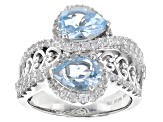 Pre-Owned Sky Blue Topaz Sterling Silver Ring 3.47ctw
