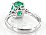 Pre-Owned Green Ethiopian Emerald 10K White Gold Ring 1.37ctw