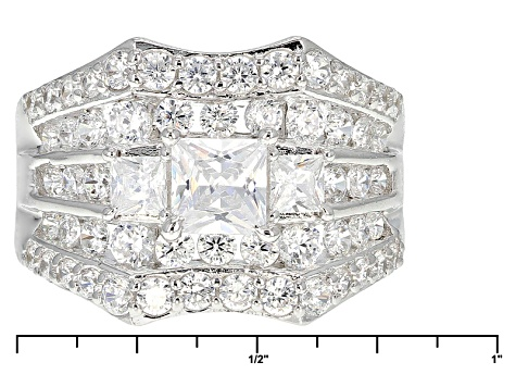 Pre-Owned Cubic Zirconia Silver Ring 3.74ctw (2.28ctw DEW)