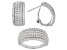 Pre-Owned White Cubic Zirconia Rhodium Over Sterling Silver Ring And Earrings 5.38ctw