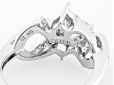Pre-Owned White Cubic Zirconia Platineve Ring 3.37ctw