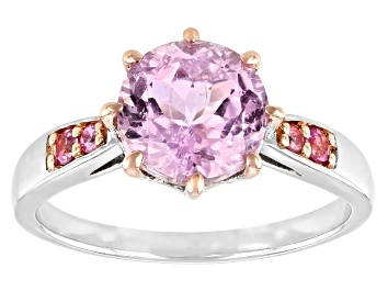 Picture of Pre-Owned Pink kunzite sterling silver ring 2.43ctw