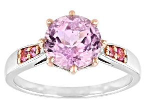 Pre-Owned Pink kunzite sterling silver ring 2.43ctw