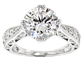 Pre-Owned Moissanite Platineve Ring 4.10ctw DEW