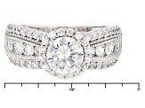 Pre-Owned White Cubic Zirconia Rhodium Over Sterling Silver Ring 5.80ctw