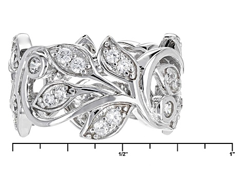 Pre-Owned Cubic Zirconia Silver Ring 1.20ctw