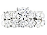 Pre-Owned Moissanite Ring With Band Platineve™ 4.17ctw DEW