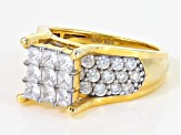 Pre-Owned White Cubic Zirconia 18k Yellow Gold Over Silver Ring 4.45ctw