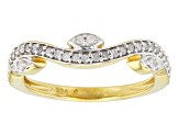 Pre-Owned 14k Yellow Gold Over Silver Ring .50ctw