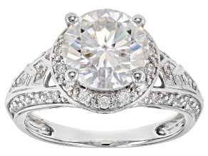 Pre-Owned Moissanite Platineve Ring 3.06ctw D.E.W