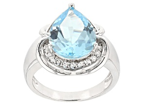 Pre-Owned Sky Blue Topaz Sterling Silver Ring 5.19ctw