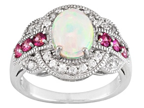 Pre-Owned Ethiopian Opal Sterling Silver Ring 1.84ctw