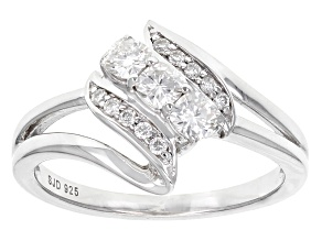 Pre-Owned Moissanite Platineve Ring .49ctw D.E.W