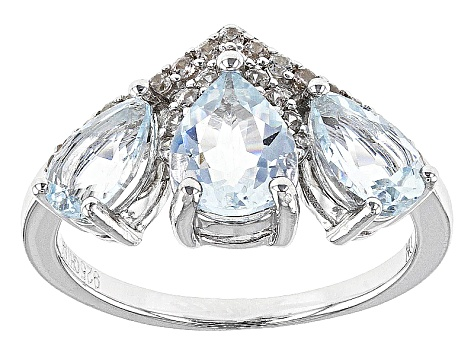 Pre-Owned Blue Aquamarine Sterling Silver Ring 1.87ctw