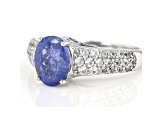 Pre-Owned Blue Tanzanite Sterling Silver Ring 2.58ctw