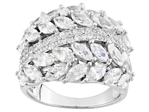 Pre-Owned White Cubic Zirconia Rhodium Over Silver Ring 6.75ctw