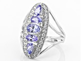 Pre-Owned Blue Tanzanite Sterling Silver Ring 1.75ctw