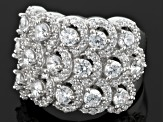 Pre-Owned Cubic Zirconia Silver Ring 5.40ctw (2.55ctw DEW)