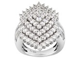 Pre-Owned Cubic Zirconia Silver Ring 6.62ctw