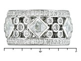 Pre-Owned White Cubic Zirconia Platineve Ring 6.58ctw